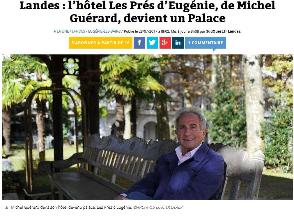 Sehr Les Près d'Eugénie, hôtel classé PALACE. - Eugénie-les-Bains  BY88
